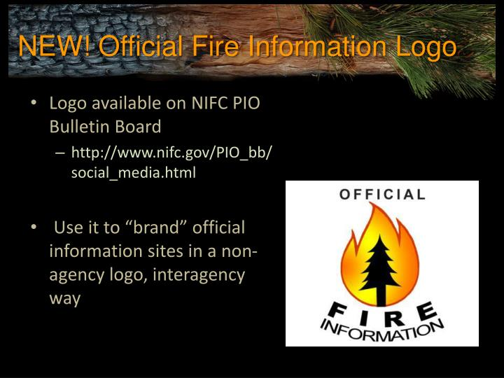 NEW! Official Fire Information Logo