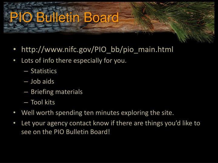 PIO Bulletin Board