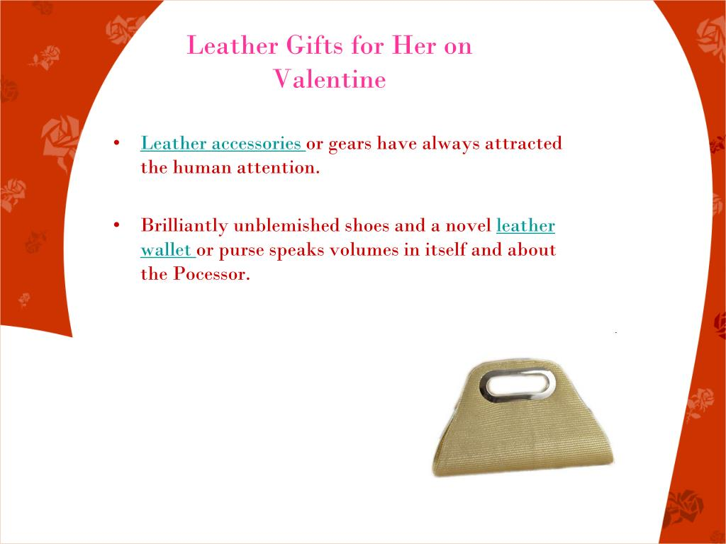 Leather Gifts for Her on Valentine
