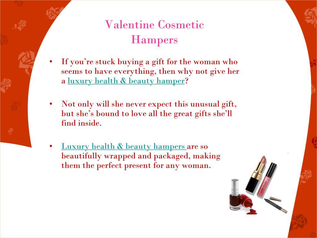 Valentine Cosmetic Hampers