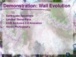 demonstration wall evolution