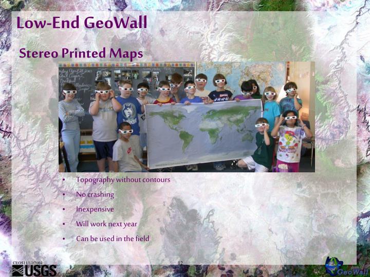 Low-End GeoWall