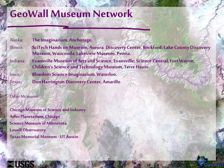 GeoWall Museum Network