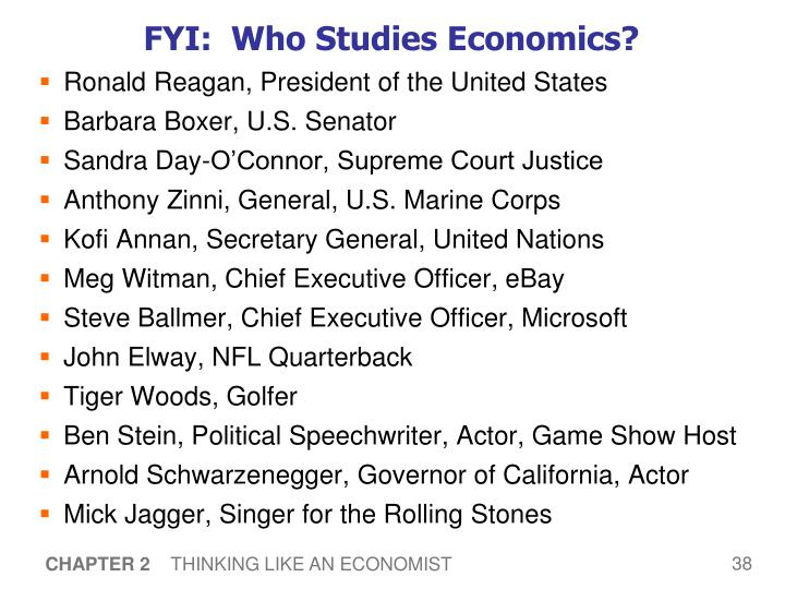 FYI:  Who Studies Economics?
