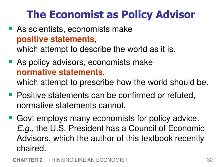 The Economist as Policy Advisor