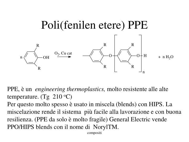 Poli(fenilen etere) PPE