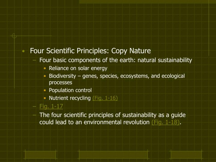 scientific principles of sustainability Sustainable development: conditions, principles and issues  prepared by: jean-luc bourdages science and technology division july 1997.