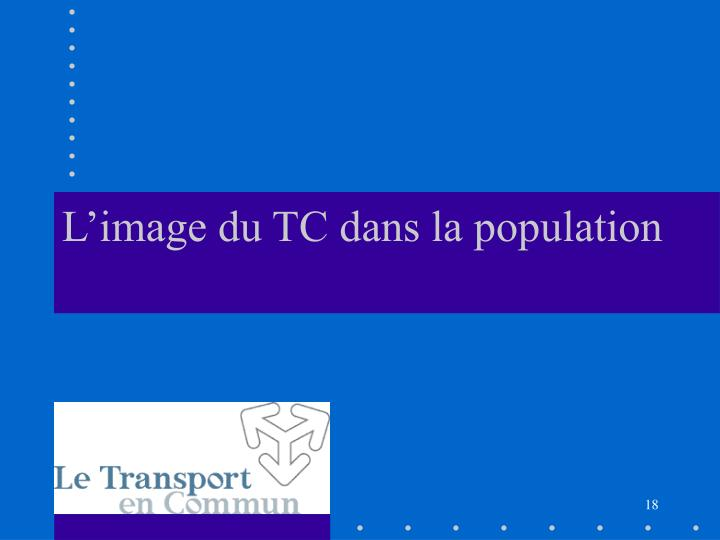 L'image du TC dans la population