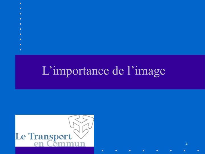 L'importance de l'image