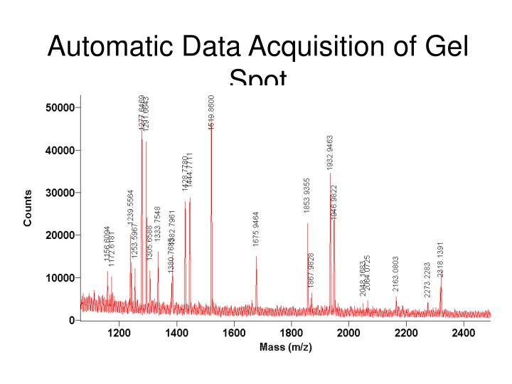 Automatic Data Acquisition of Gel Spot