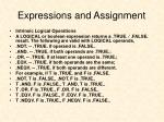 expressions and assignment6
