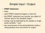 simple input output1