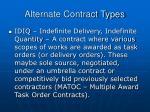 alternate contract types