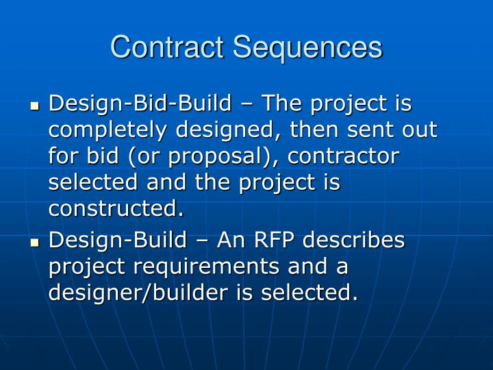 Contract Sequences