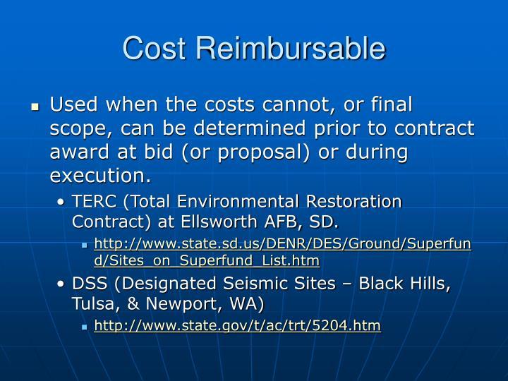 Cost Reimbursable