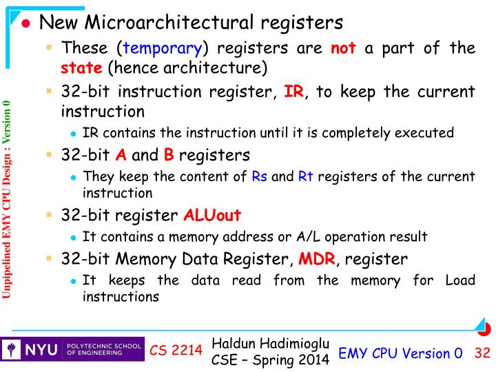 New Microarchitectural registers