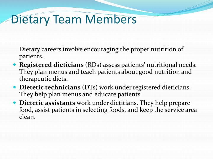 Dietary Team Members