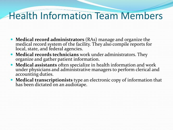 Health Information Team Members