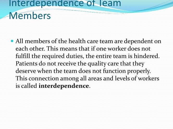 Interdependence of Team Members
