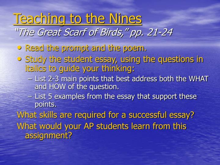great scarf of birds essay