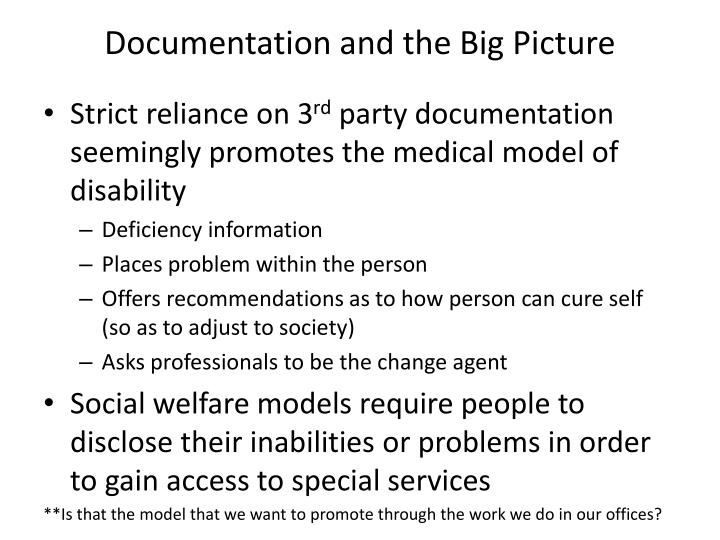 Documentation and the Big Picture