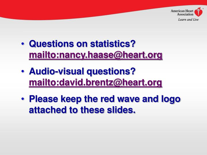Questions on statistics?