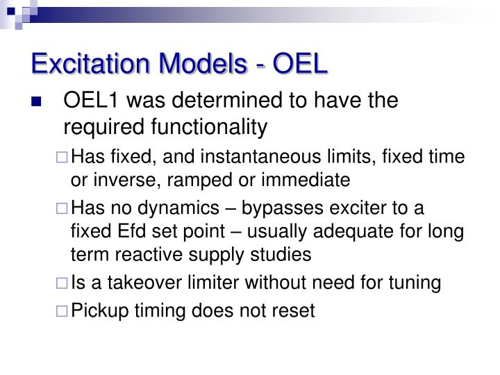 Excitation Models - OEL