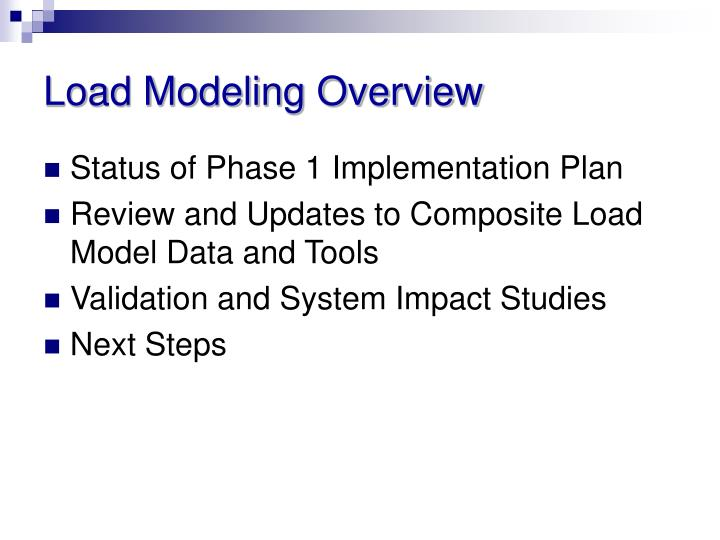 Load Modeling Overview