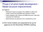 phase 2 of wind model development model structure improvements1