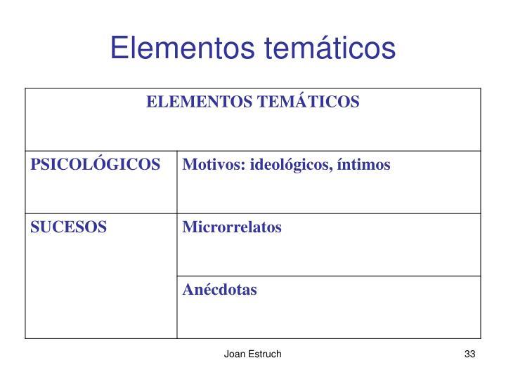 Elementos temáticos