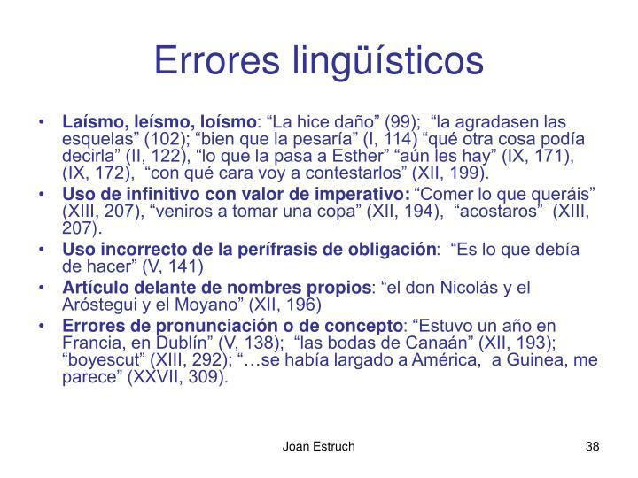 Errores lingüísticos