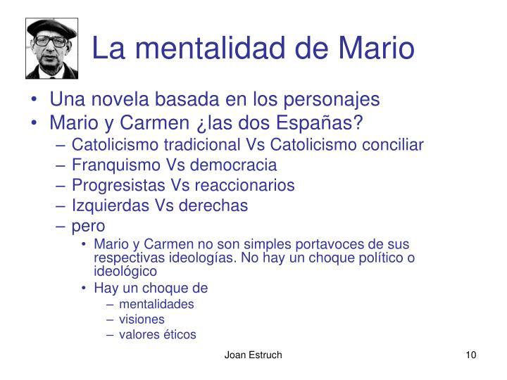 La mentalidad de Mario