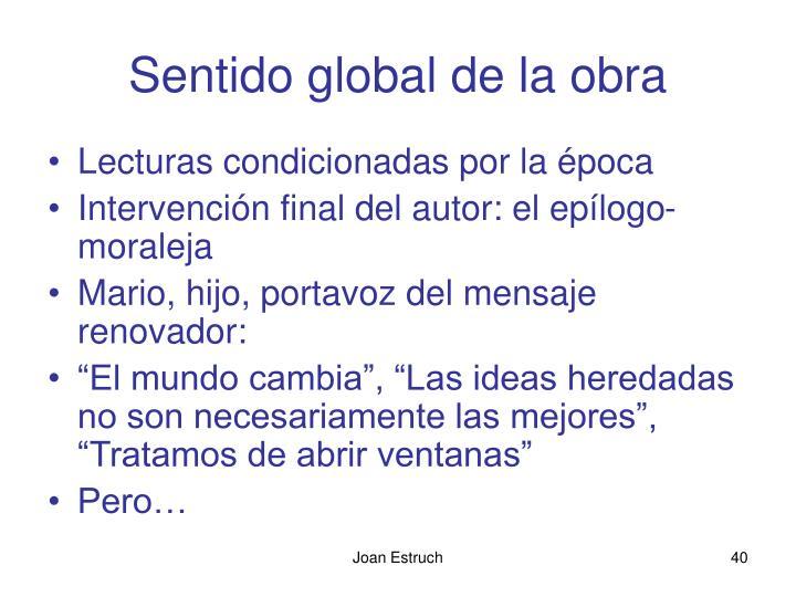 Sentido global de la obra