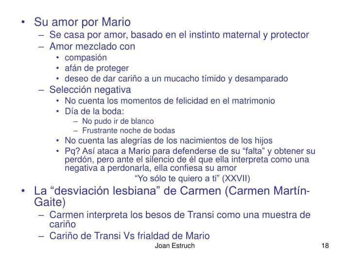 Su amor por Mario