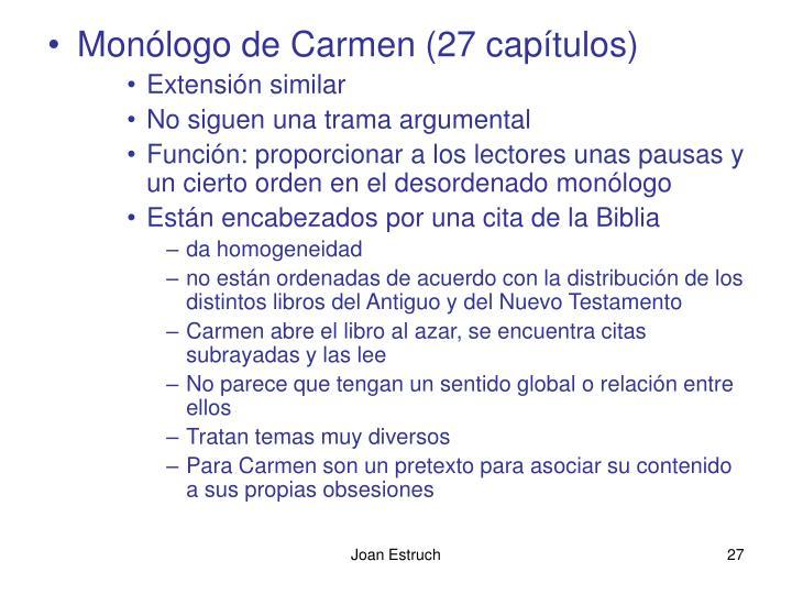 Monólogo de Carmen (27 capítulos)