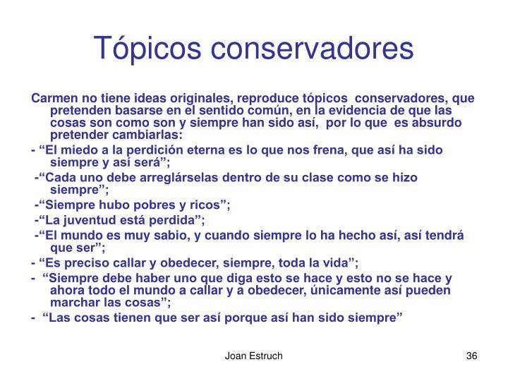 Tópicos conservadores