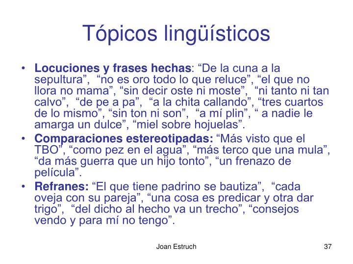 Tópicos lingüísticos