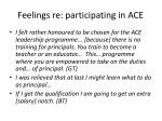feelings re participating in ace
