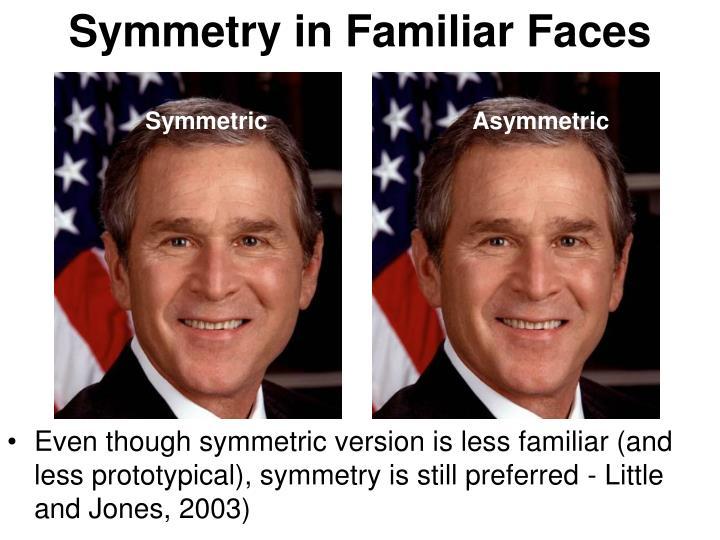 Symmetry in Familiar Faces