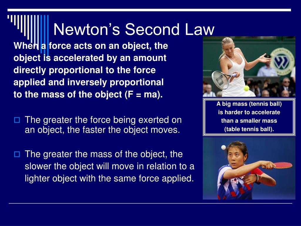 When a force acts on an object, the