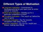 different types of motivation