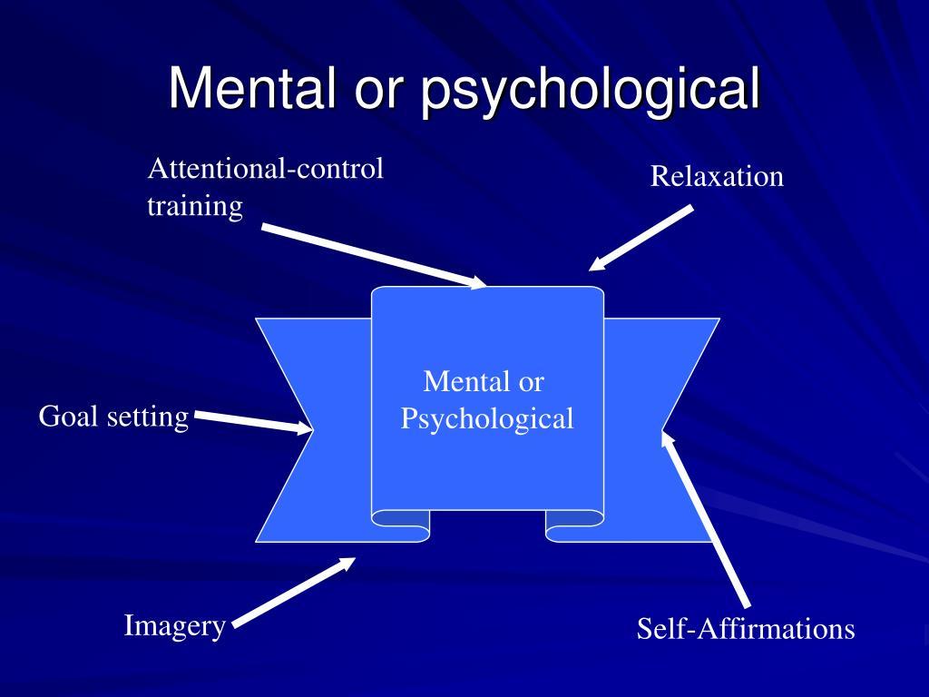 Mental or psychological