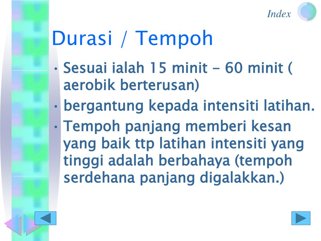 Durasi / Tempoh