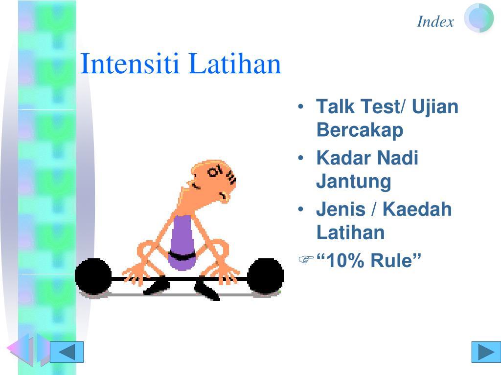 Intensiti Latihan