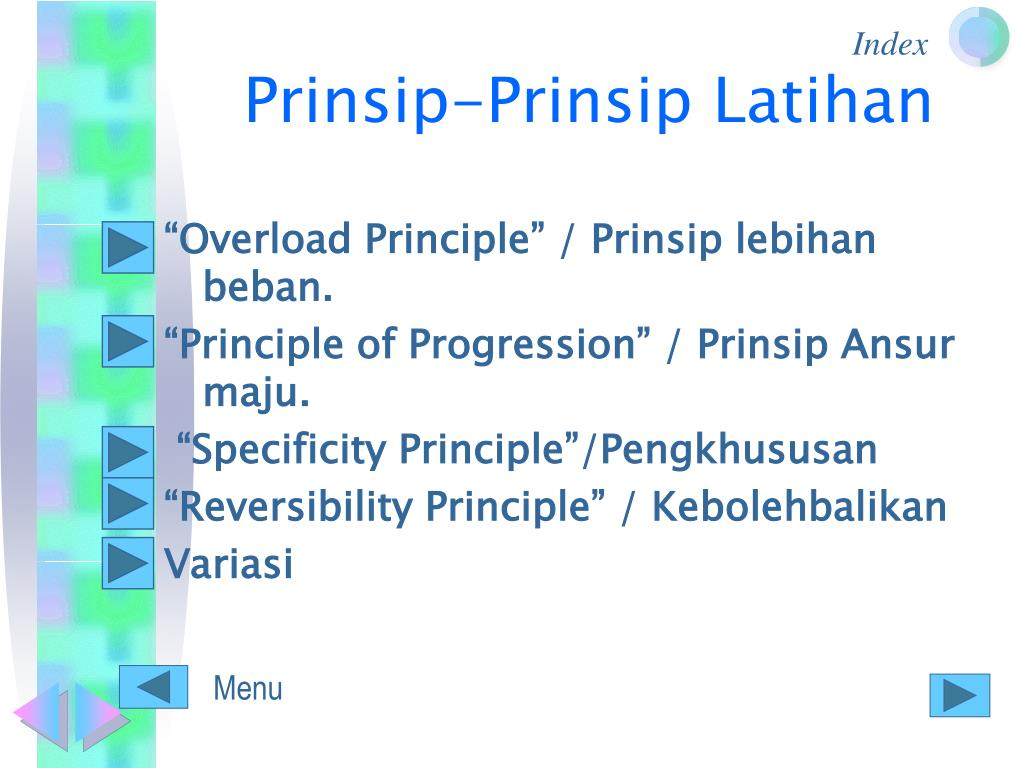 Prinsip-Prinsip Latihan