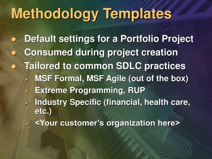 Methodology Templates