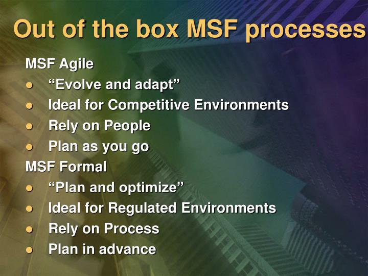 MSF Agile