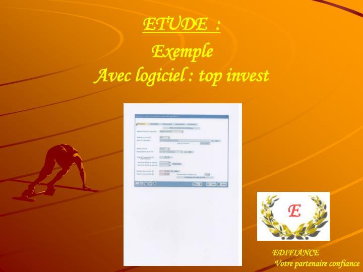 ETUDE  :