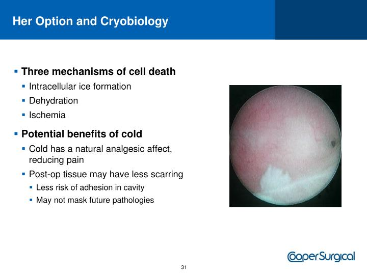 Her Option and Cryobiology
