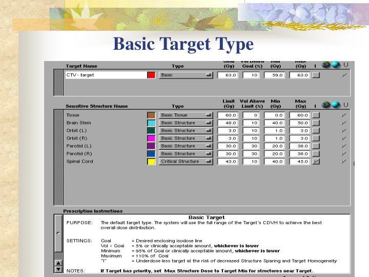 Basic Target Type